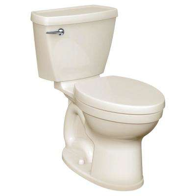 Champion 4 HET Tall Height 2-Piece 1.28 GPF Single Flush High-Efficiency Elongated Toilet in Linen, Seat Not Included