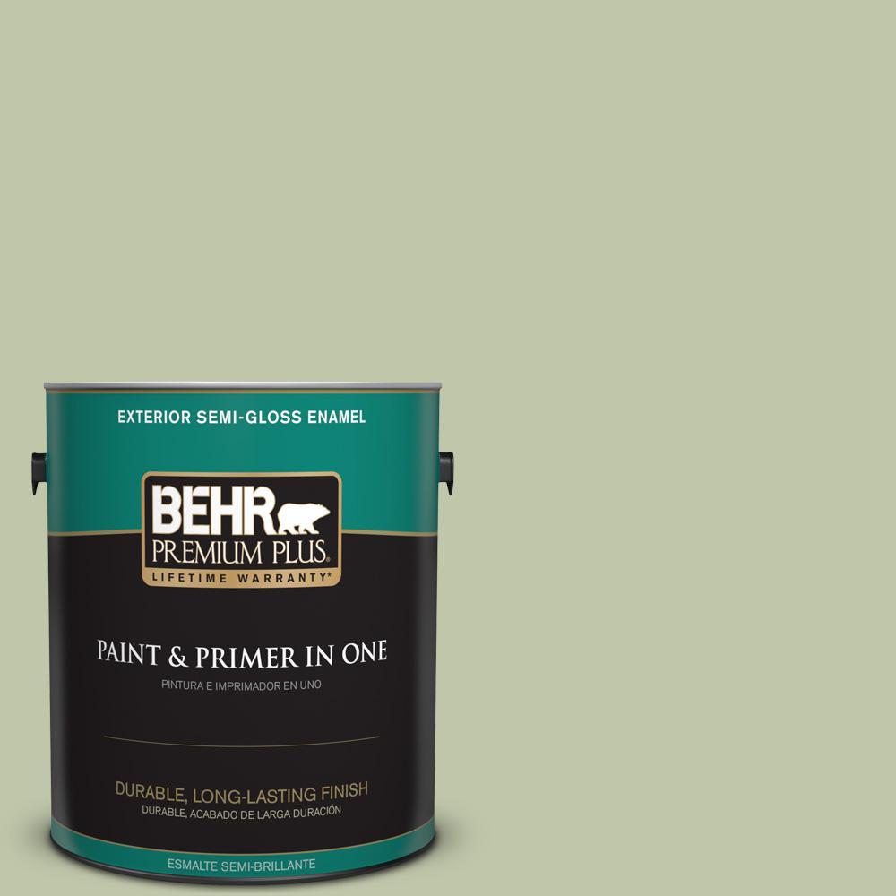 1 gal. #PPU10-08 Minted Lemon Semi-Gloss Enamel Exterior Paint