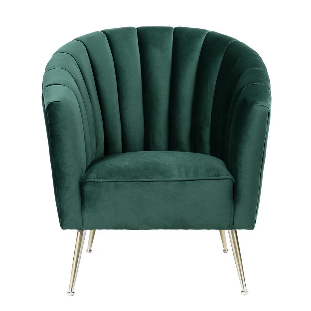 Rosemont Green Velvet Accent Chair