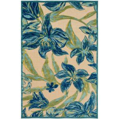 Narduir Navy 9 ft. x 12 ft. Indoor/Outdoor Area Rug