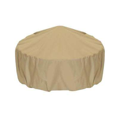 36 in. Fire Pit Cover in Khaki