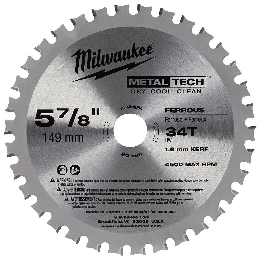 5-7/8 in. x 34-Tooth Ferrous Metal Cutting Saw Blade