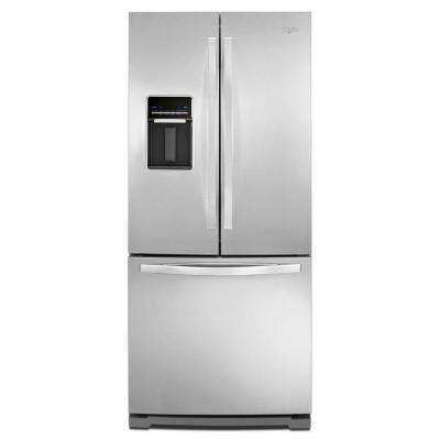 19.7 cu. ft. French Door Refrigerator in Monochromatic Stainless Steel