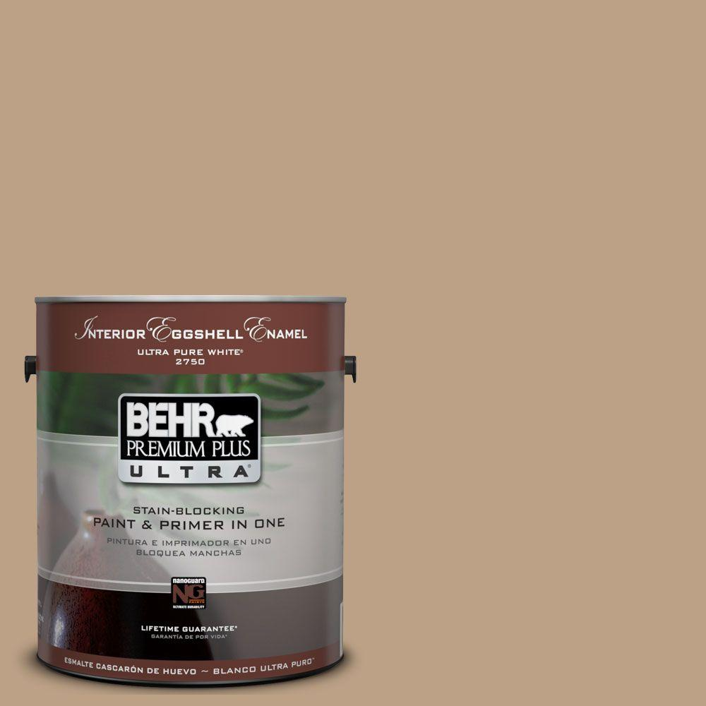 BEHR Premium Plus Ultra 1 gal. #UL140-9 Basketry Eggshell Enamel Interior Paint and Primer in One