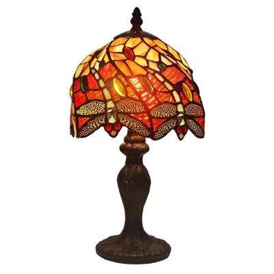 14.5 in. Tiffany Style Dragonfly Table Lamp