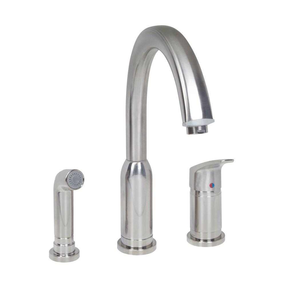 American Standard Arch Standard Single-Handle Kitchen Faucet with ...