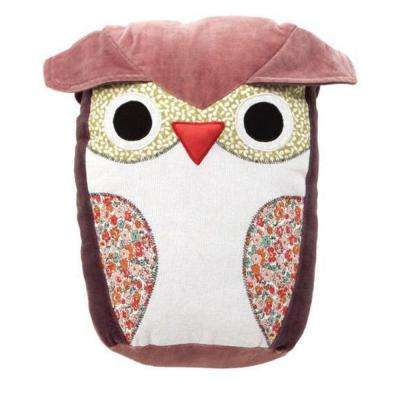 Stuffed Pink 13.5 in. H Owl Pillow