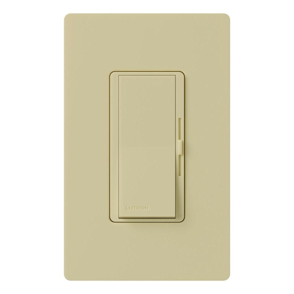 Lutron Diva Magnetic Low Voltage Dimmer, 450-Watt, Single-Pole, Ivory