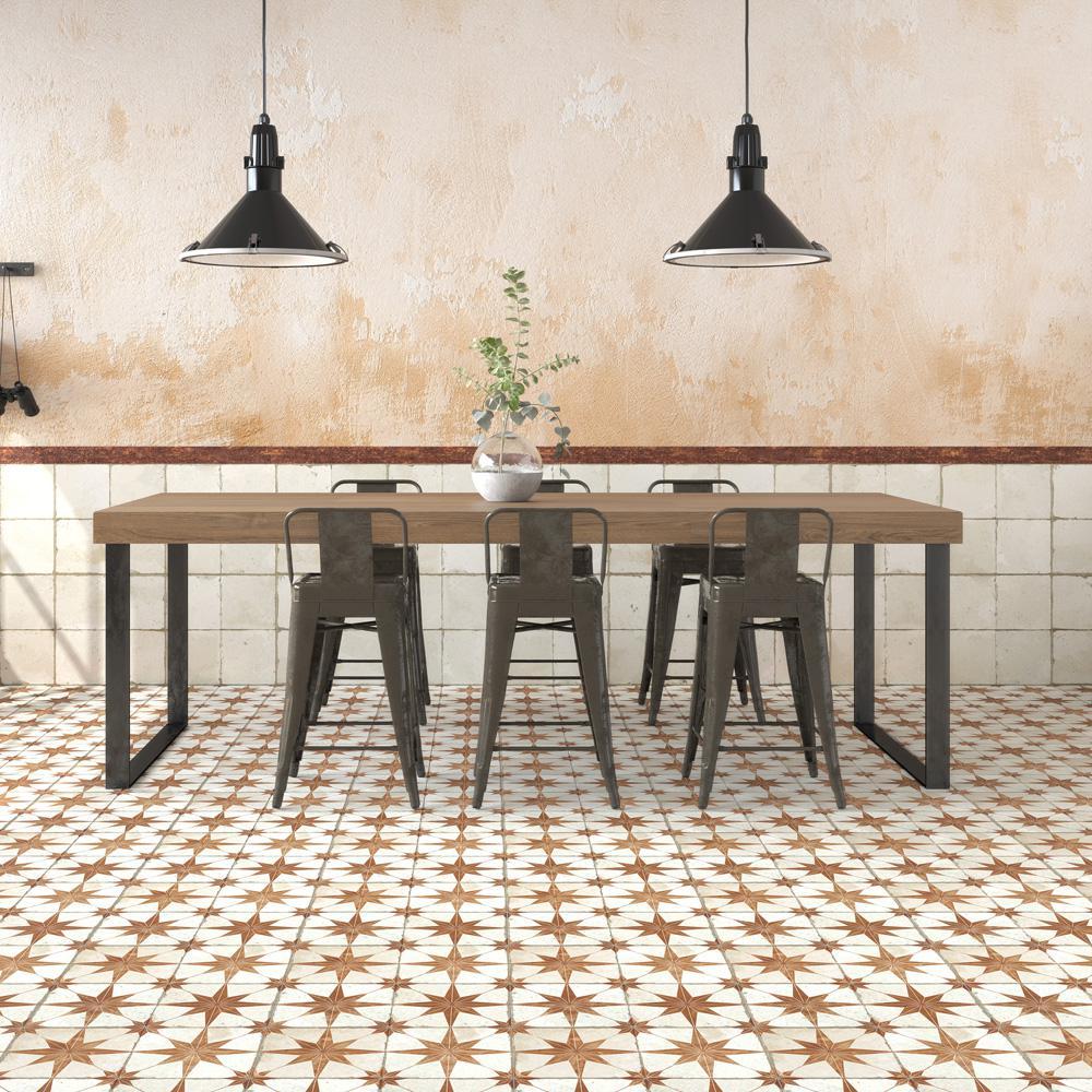 Kings Star Oxide Encaustic 17-5/8 in. x 17-5/8 in. Ceramic Floor and Wall Tile (11.02 sq. ft. / case)