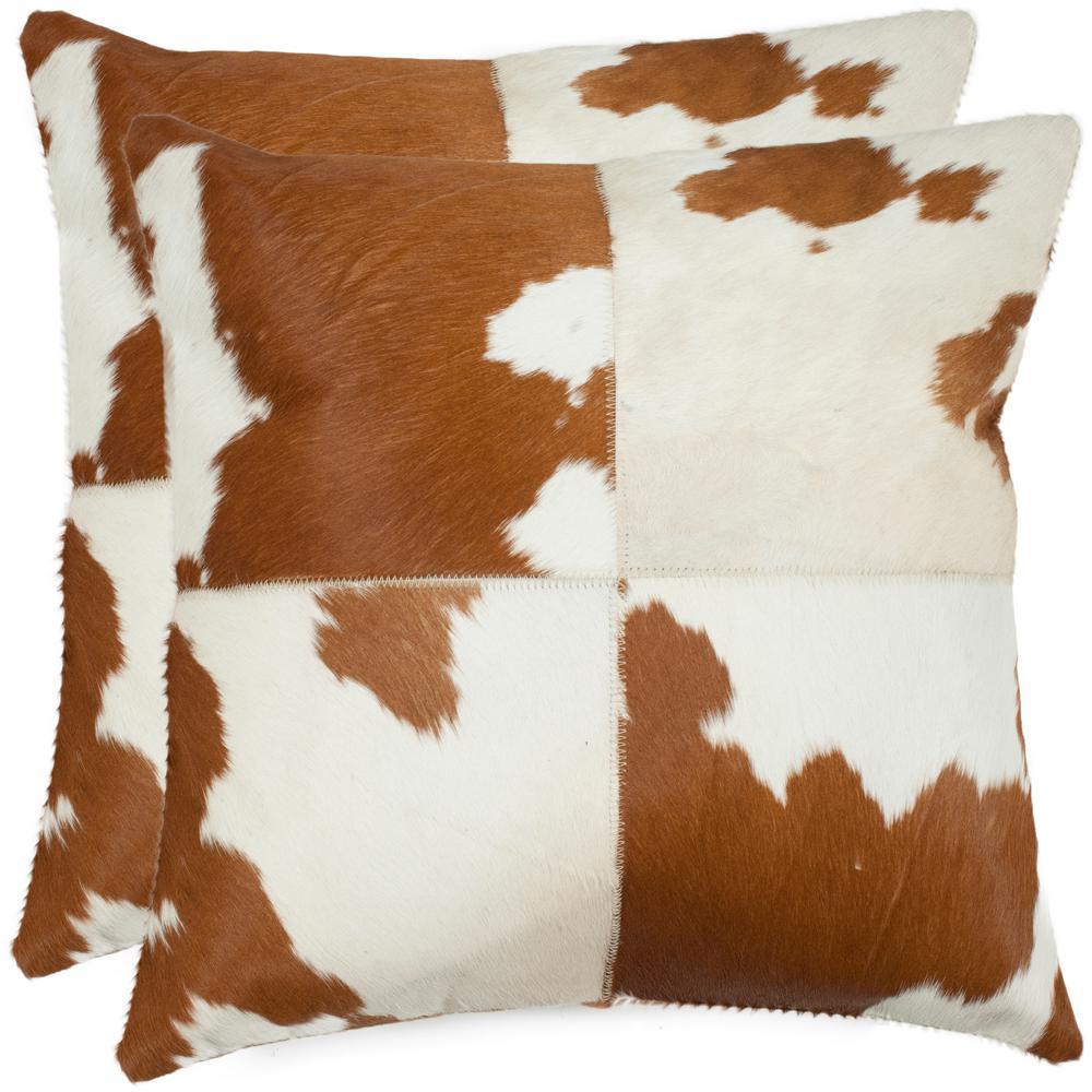 Safavieh Carley Cowhide Pillow (Set of 2)