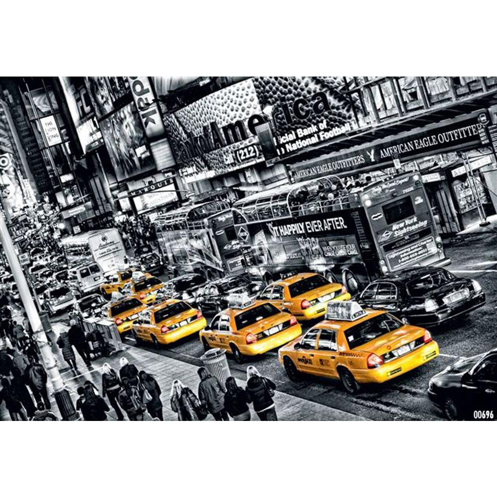 Ideal Decor 45 in. x 0.25 in. Cabs Queue Wall Mural