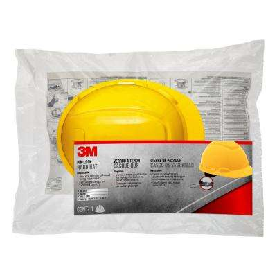 23c712557 Yellow Non-Vented Hard Hat with Pinlock Adjustment