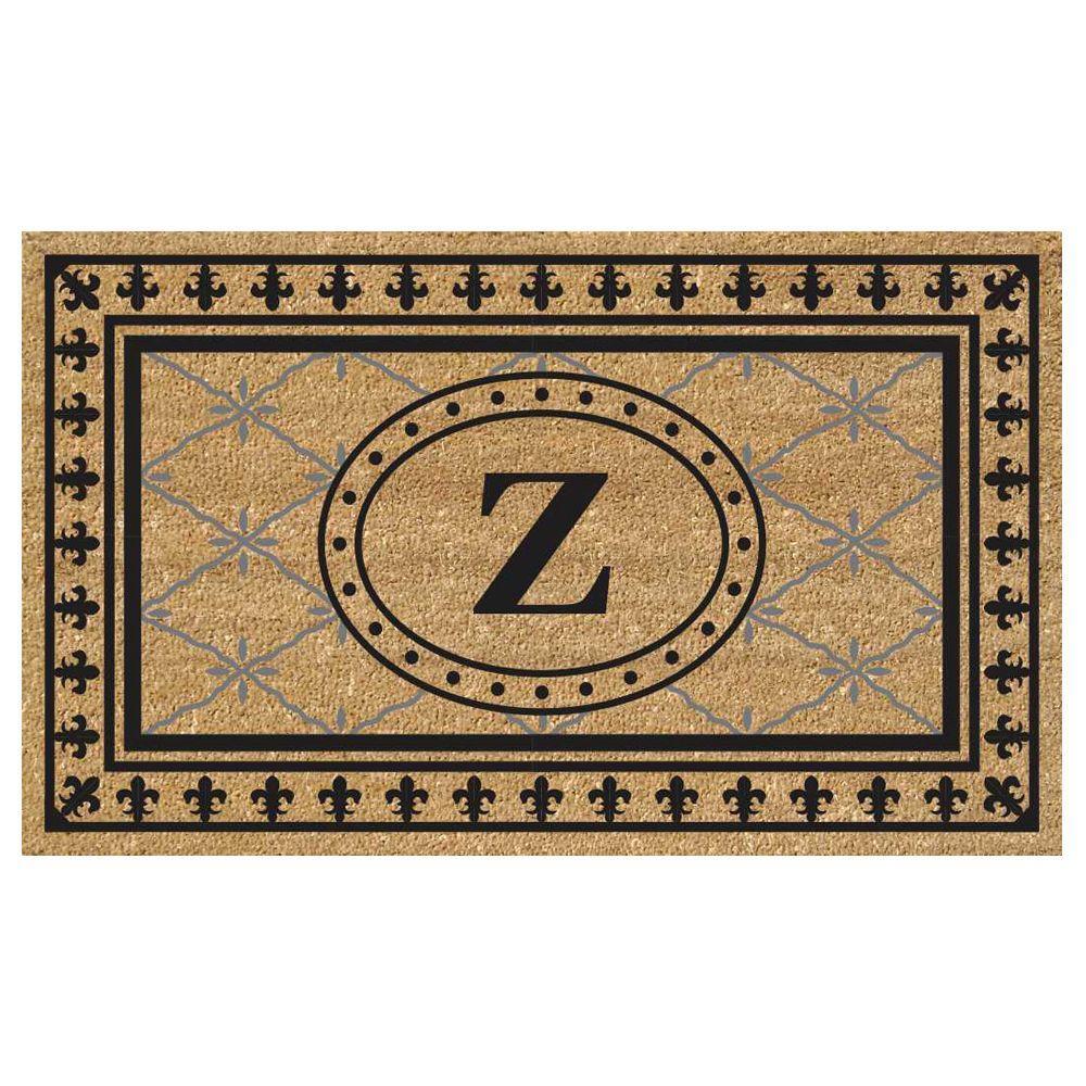 SuperScraper Vinyl/Coir Monogrammed Z Door Mat