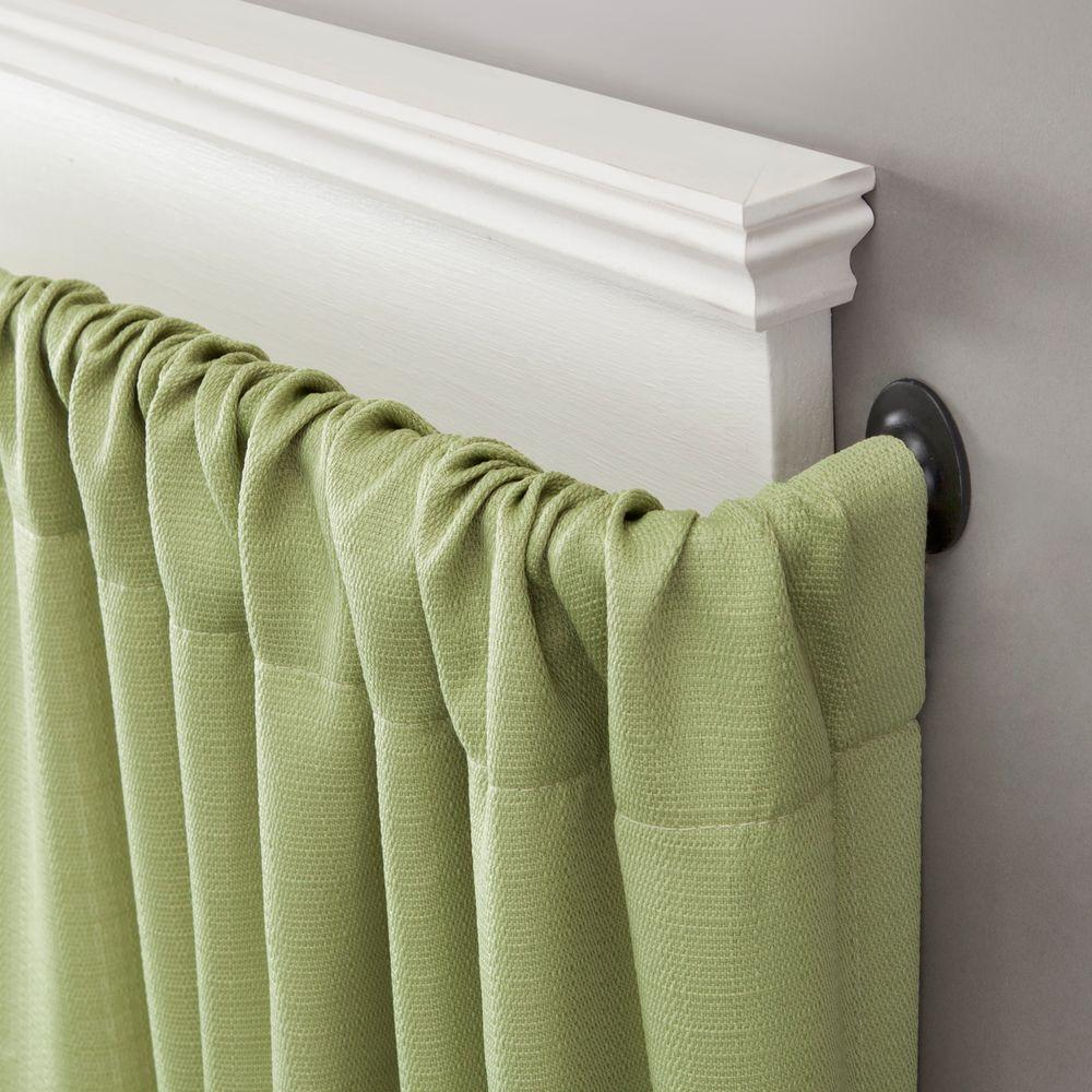 28 in. - 48 in. Telescoping 5/8 in. Room Darkening Curtain