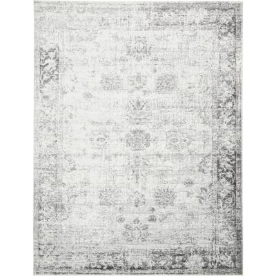 Sofia Casino Gray 9 ft. x 12 ft. Area Rug