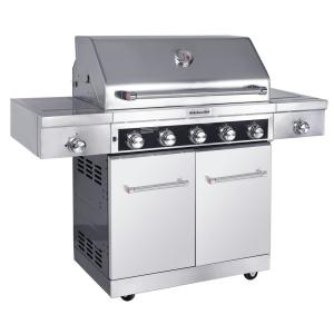 Kitchenaid 5 Burner Propane Gas Grill In Stainless Steel