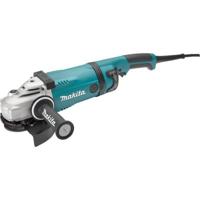 15 Amp 7 in. Corded Angle Grinder with Lock-Off and No Lock-On Switch