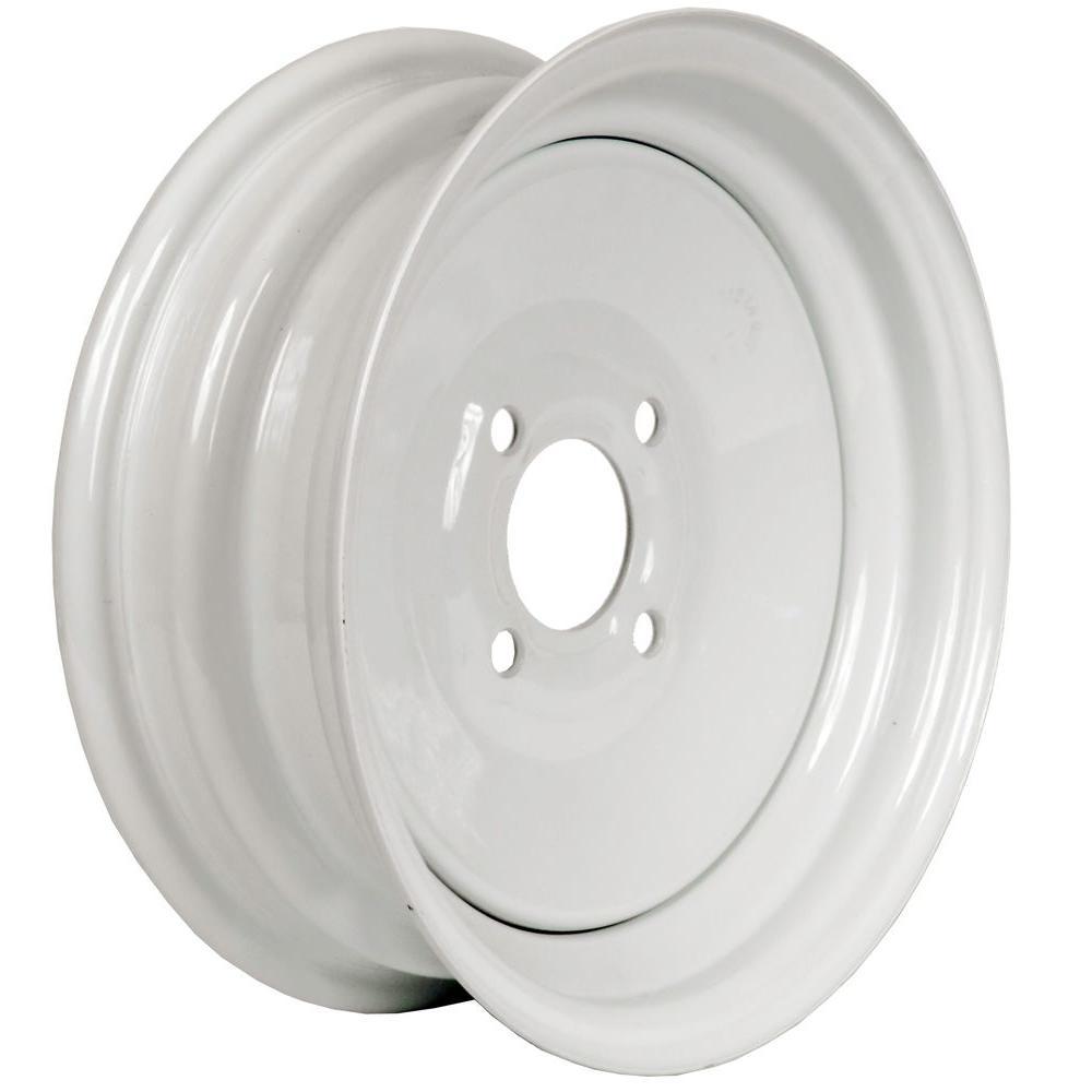 Martin Wheel 12x4 4 Hole 12 In Steel Trailer Wheel Rim R