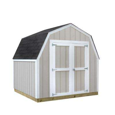 Installed Val-U Shed 8 ft. x 8 ft. Smart Siding Shed