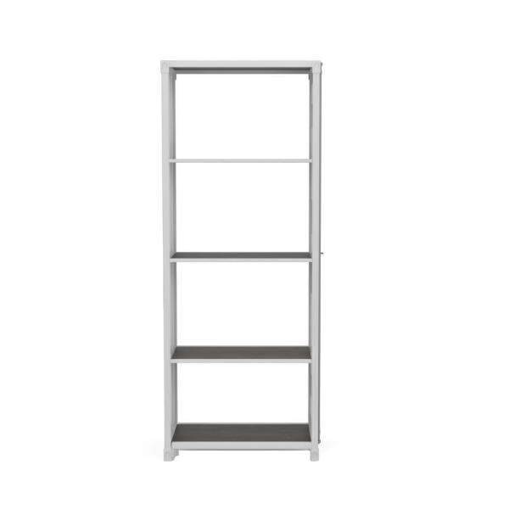 Klimson 64 in.H Sand White 4-Shelf Bookcase
