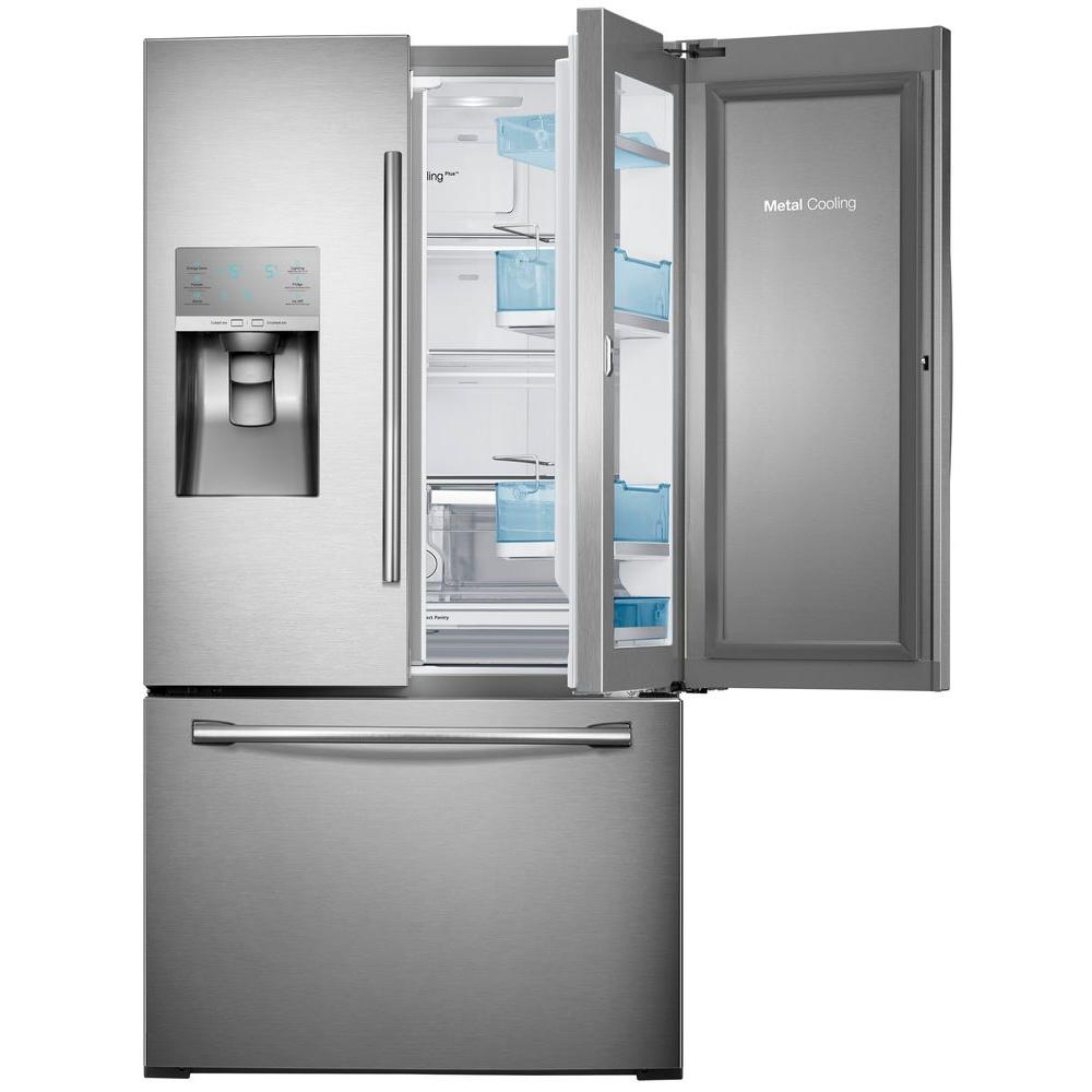 Samsung 30.2 cu. ft. Food Showcase French Door Refrigerator in Stainless Steel