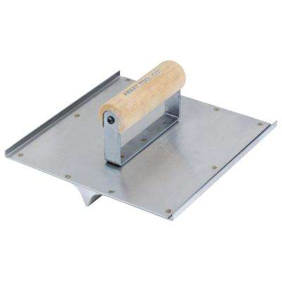 6 in. x 3.5 in. Stainless Steel Hand Groover with Wood Handle