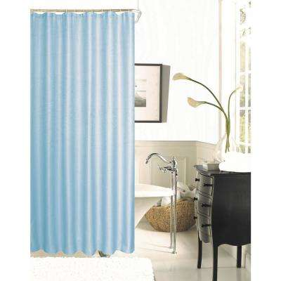 Exclusive Spa 251 Hotel Collection 72 in. Celestial Blue Waffle Shower Curtain