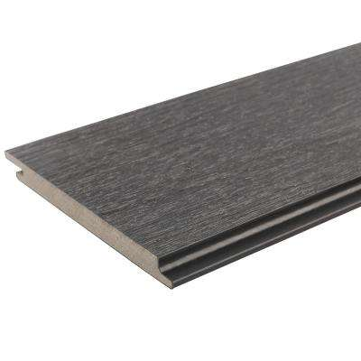 All Weather System 5.5 in. x 96 in. Composite Siding Board in Hawaiian Charcoal