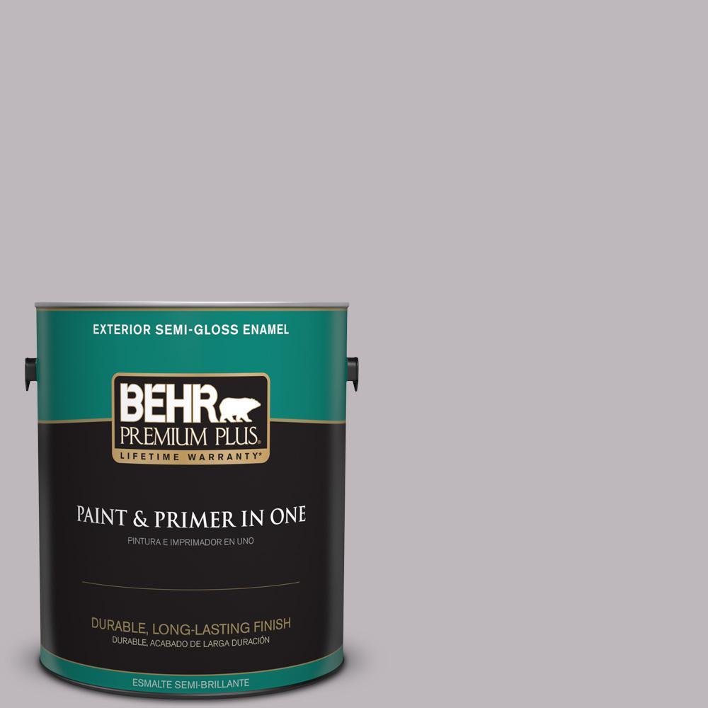 1 gal. #PPU16-10 French Lilac Semi-Gloss Enamel Exterior Paint
