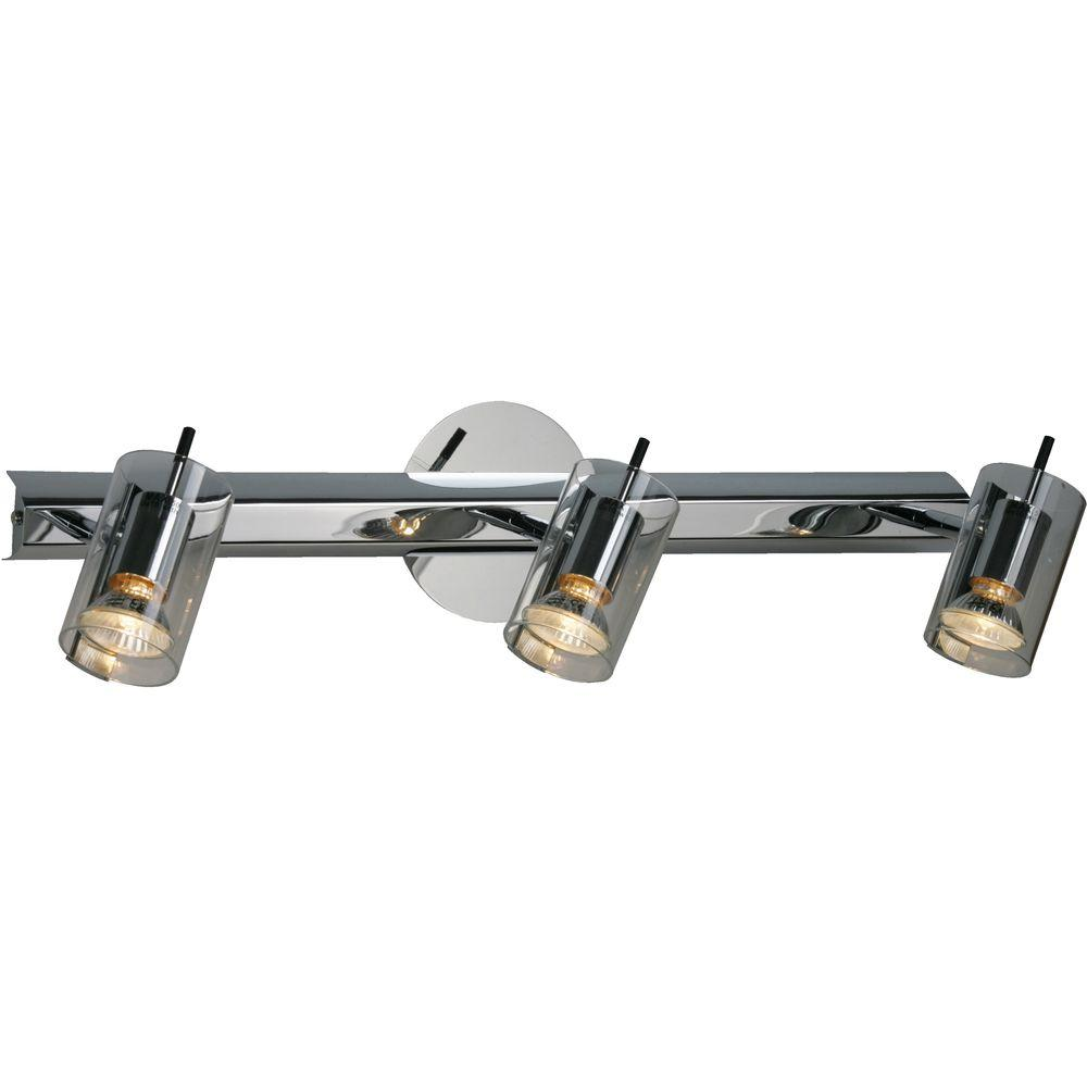 Oriax 3-Light Polished Chrome Wall Sconce with Clear Glass Shade-DISCONTINUED