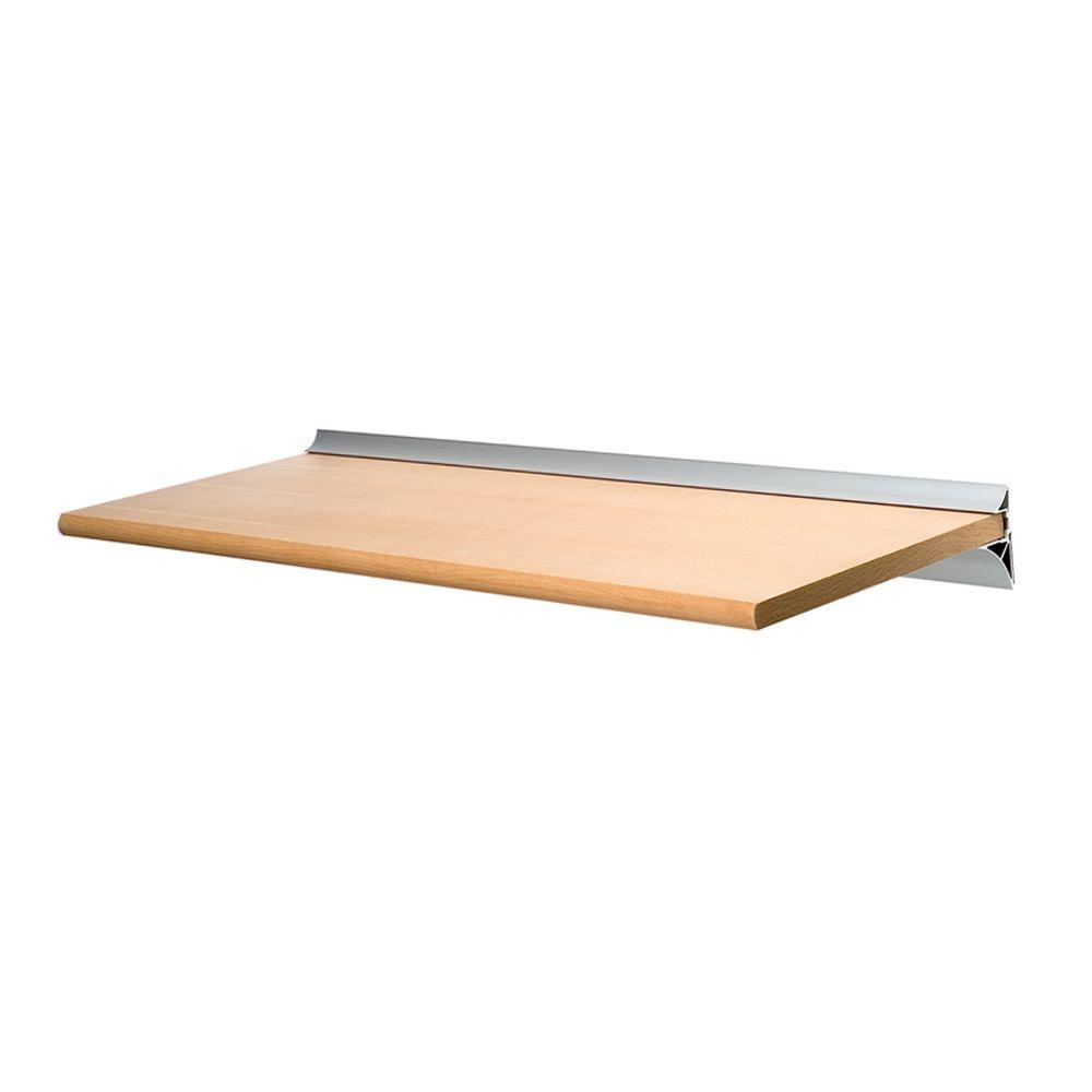 Gallery Beech Shelf with Silver Bracket Shelf Kit (Price Varies By Size)