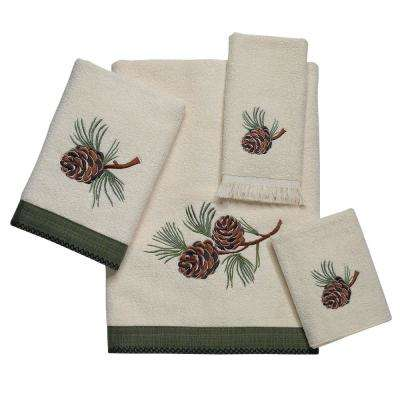 Pine Creek 4-Piece Bath Towel Set in Ivory