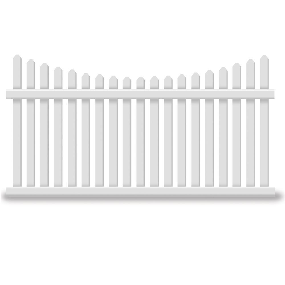 Richmond 4 ft. H x 8 ft. W White Vinyl Picket Fence Panel
