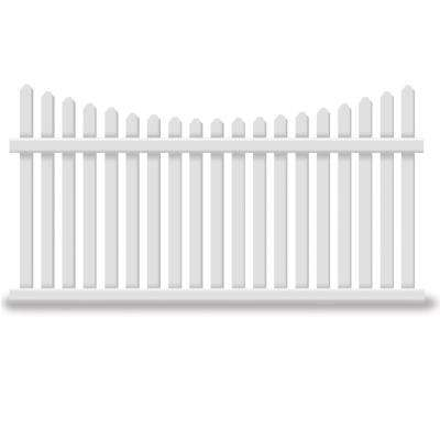Richmond 5 ft. H x 8 ft. W White Vinyl Picket Fence Panel