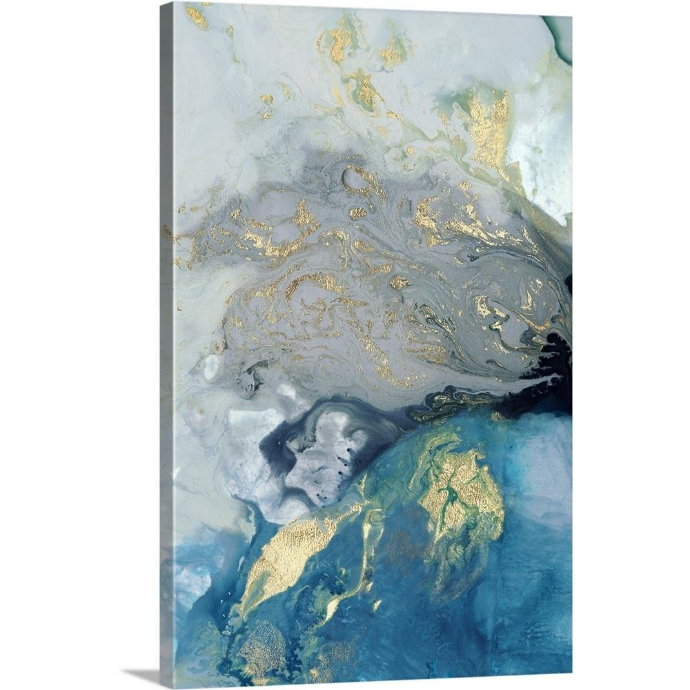 "Big Canvas Art Modern Watercolor Abstract Ink Splash Big: GreatBigCanvas ""Ocean Splash I"" By PI Galerie Canvas Wall"