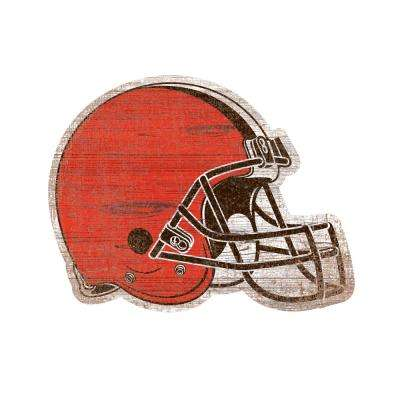 NFL Indoor Cleveland Browns Distressed Logo Cutout Wood Sign
