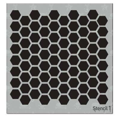 Hexagon Small Repeat Pattern Stencil