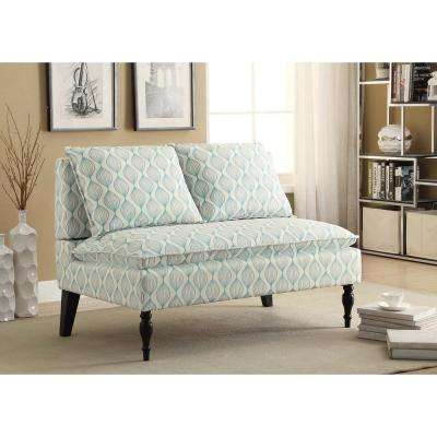 Banquette Blue Bench