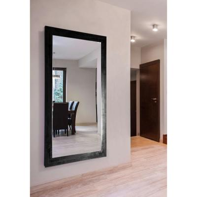 Oversized Rectangle Black And Gray Modern Mirror (70 in. H x 37 in. W)