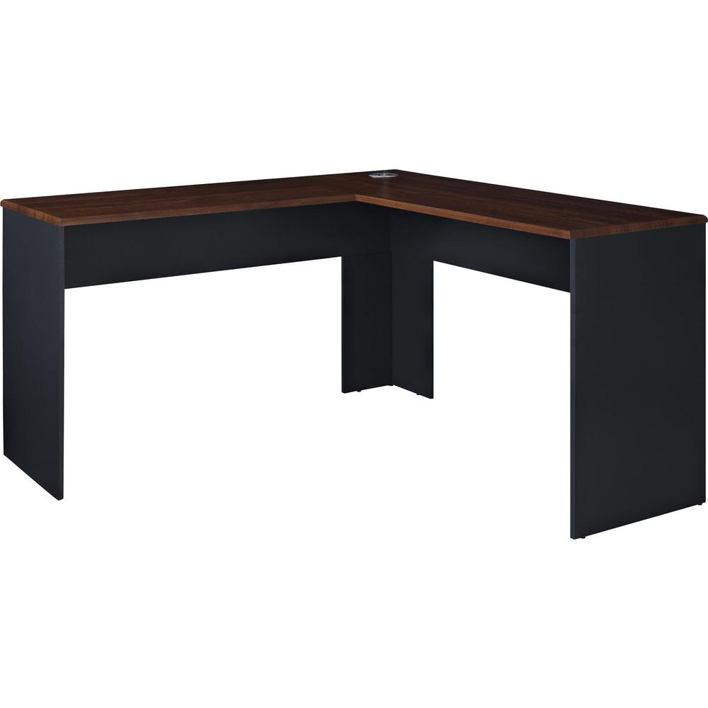 Ameriwood Home Greywood Cherry And Gray L Shaped Computer Desk
