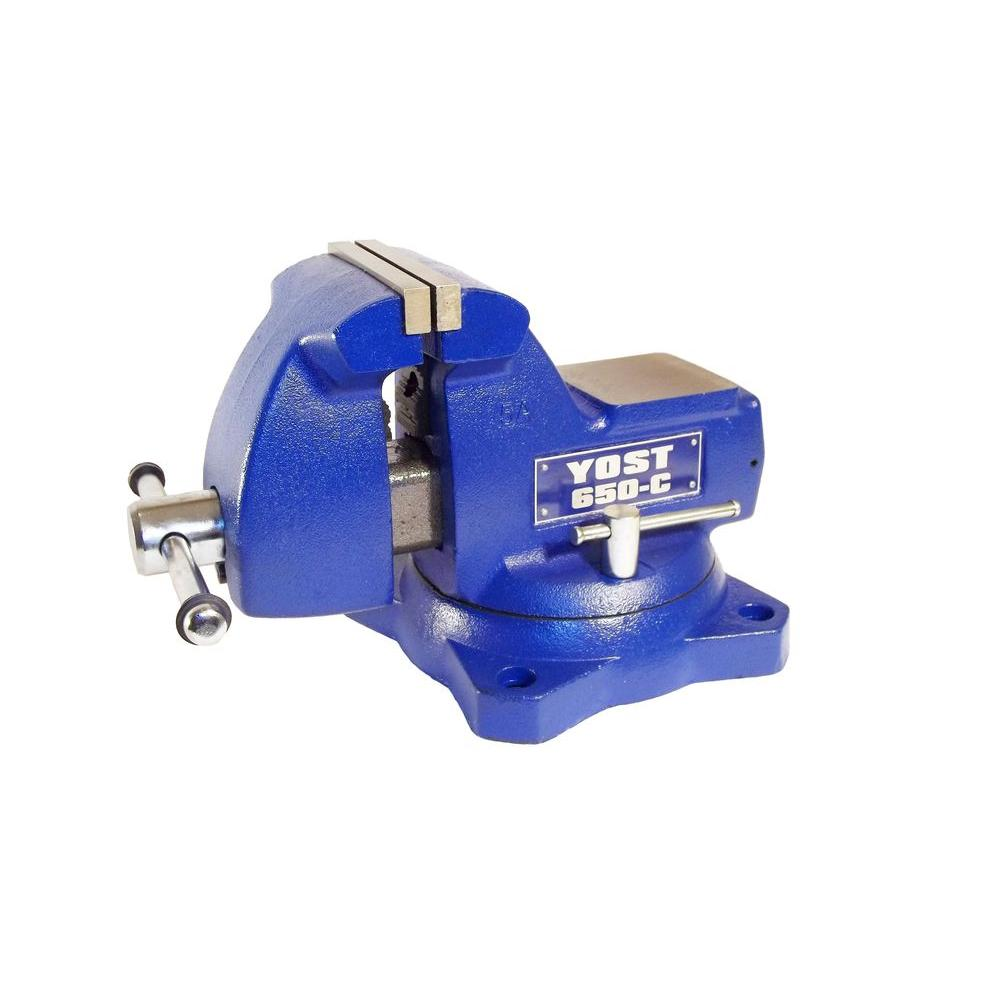 5 in. Combination Pipe and Bench Mechanics Vise with Swivel Base