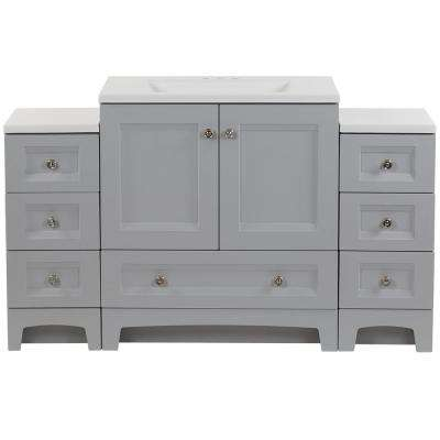 Delridge Bath Suite with 30 in. Vanity Top and 2-Drawer Bases in Pearl Gray