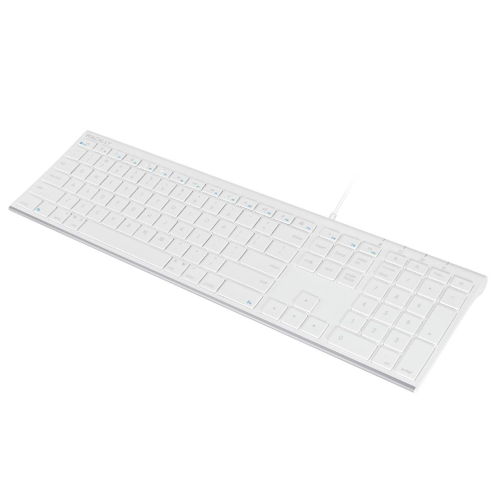 Macally Ultra Slim Premier 110-Keys Brush Metal USB Keyboard