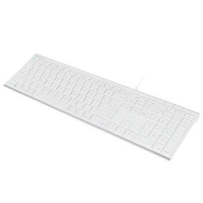 Ultra Slim Premier 110-Keys Brush Metal USB Keyboard
