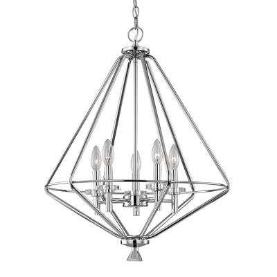 Marin 5-Light Polished Chrome Chandelier with Crystal Accents