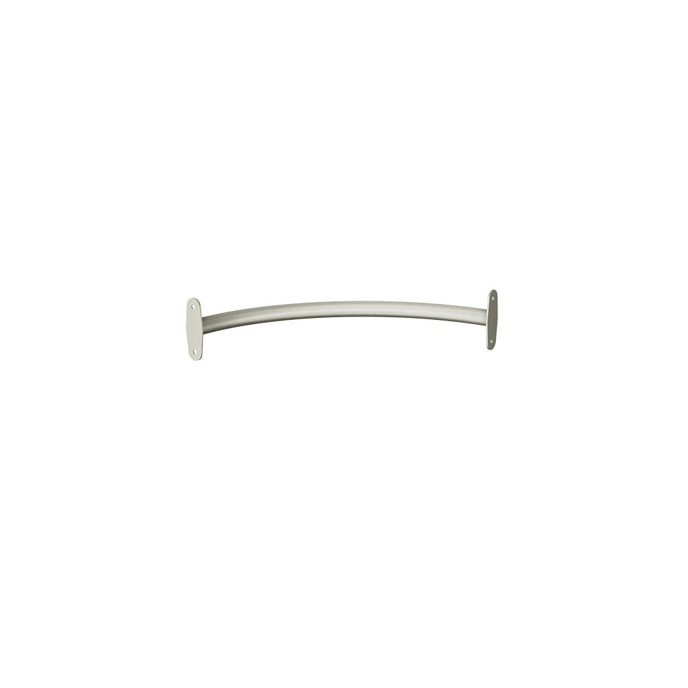 Style+ 23 in. Satin Nickel Corner Closet Rod