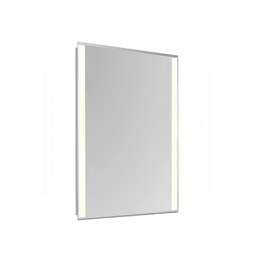 klein 20 in x 40 in 2 sides led edge wall mirror with rectangle steel frame color temperature. Black Bedroom Furniture Sets. Home Design Ideas