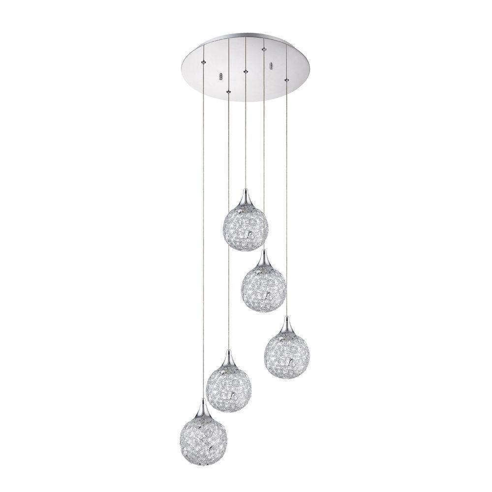 Designers Choice Collection SOLARO Series 5-Light Chrome Pendant