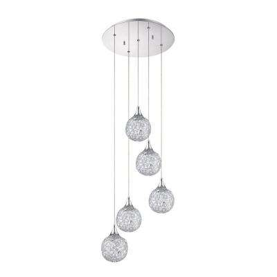 SOLARO Series 5-Light Chrome Pendant