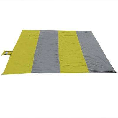 7 ft. Lime and Charcoal Nylon Pocket Blanket